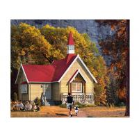 Quality Custom Outdoor Pine Wood Chalet One Floor With 48mm Thickness Of  Wall for sale