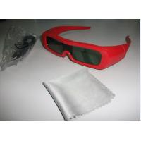 Quality Red Universal Active Shutter 3D TV Glasses Reaction LCD Lenses for sale