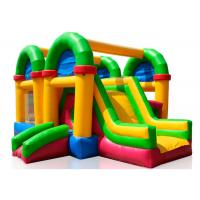 Quality Three In One Childrens Bouncy Castle , Kids Jumping Castle With Rush Slides for sale