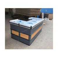 Buy Wooden And Steel Automatic Cashier Checkout Counter / Supermarket Checkout at wholesale prices
