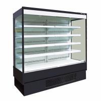 Quality 6FT White Color Open Display Fridge for Supermarket with LED Lighting for Each Shelf for sale