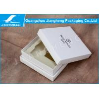Quality Handmade Rigid Cardboard Boxes White Elegant With Velvet Plastic Tray for sale
