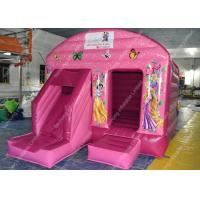 Quality Pink Inflatable Bounce House , Amusement Park Inflatable Bounce for sale