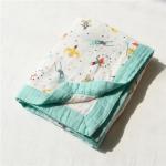 Quality Zero Formaldehyde Muslin Stroller Blanket / Lightweight Baby Cotton Swaddle Wraps for sale