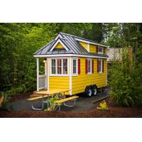 Buy cheap Wind Resistance Prefabricated luxury Tiny House on wheels with trailer wholesale from wholesalers