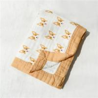 Quality Customized Printed Muslin Baby Blankets Super Comfortable Unique Cute Muslin Cloth for sale