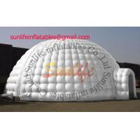 Quality hot sell inflatable air tight 0.6mm pvc tarpaulin igloo party outdoor tent for sale