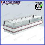 Quality 2m single side commercial supermarket display island freezer refrigerator fridge chiller for sale