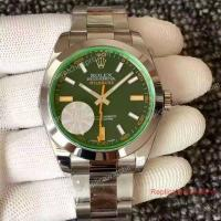 Swiss ETA2836 Replica Rolex Milgauss Green Watch 40mm