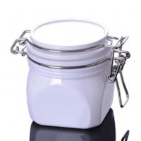 Quality 220g Square Plastic Cosmetic Cream Jar for Facial Mask Packaging for sale