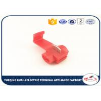 Quality Fast Connecting Joint Red  Automotive Connectors Electrical Crimp Cable Snap Terminals for sale