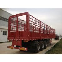 Container Cargo Lorry Trailer , 3 Axle Semi Trailer Trucks with Manual Transmission