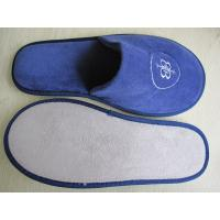 Quality high quality disposable  slipper with embroidery logo close  toe 5stars hotel for sale