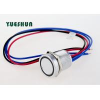 Quality 12V 24V LED Illuminated Piezo Touch Switch , 19mm Switch Push Button Momentary for sale