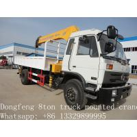 Quality 2019 best price new Dongfeng 4*2 190hp 6.3ton truck mounted crane for sale, hot sale dongfeng 6.3tons truck with crane for sale