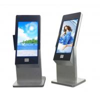 Quality 43 Inch Floor Stand Interactive IR Touch Screen Kiosk Computer Totem With Webcam And Scanner for sale