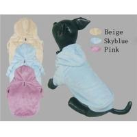 Quality Winter Dog Coats Velour Hoodies for sale