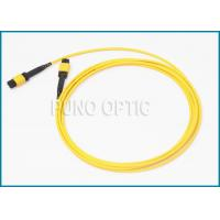 Quality Single / Multi Mode MPO Fiber Optic Cable With LSZH Outer Jacket IEC Standard for sale