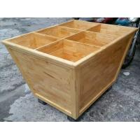 Quality Custom Wooden Supermarket Rice Storage Wooden Display Rack / Rice Holder Container For Store for sale