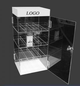 Quality Premium Acrylic Counter Display Units , E Cigarette Plastic Display Unit for sale