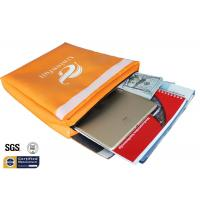 "Quality Non Itchy Fireproof Document Bag 1523 ℉ Envelope Pouch 11""x15""x2"" Orange for sale"