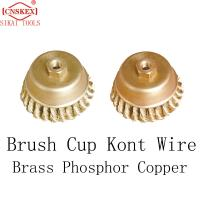 Quality non sparking tool Brass Cup Kont Wire Brass Phosphor Copper rust removal cleaning for sale
