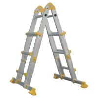 Quality Outdoor Aluminum Telescopic Ladder 4x3 Corrosion Resistant Long Life Span for sale