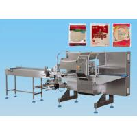 China Ice Cream Horizontal Flow Wrap Machine Bottom Film Box Motion CE Certification on sale