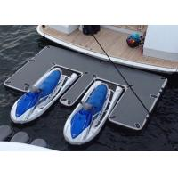 Quality Waterproof Inflatable Yacht Slides With Personalized Logo Grey / Blue Color for sale