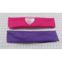 Quality a set of 2 pcs fabirc hairwrap 1 blank purple + 1 fushina with a pink heart for sale