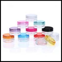 Quality 3g 5g Volume Clear Plastic Jars Cosmetic Containers Eye Shadow Powder Cans for sale