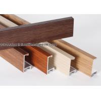 Quality Wood Grain Effect Aluminium Picture Frame Mouldings For Art Show for sale