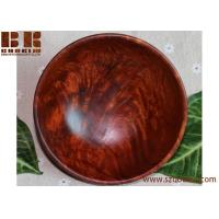 China wooden pure hand-made teak ,retro dry fruit bowl carved handmade natural wood classical bowl on sale