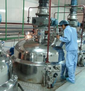 Quality 1 Ton / Hour Liquid Detergent Manufacturing Plant , Liquid Soap Making Machine for sale
