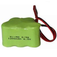 Quality Rechargeable NiMH 2/3A 6V 1200mAh Battery Pack with Connector for sale
