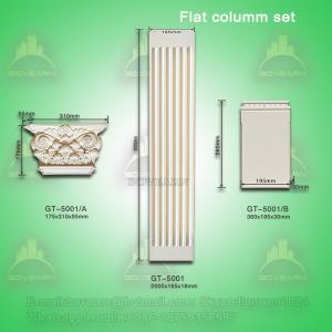 Quality High quality PU Plane Roman Pillar for interior and exterior decoration for sale