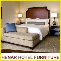 Buy cheap Hampton Inn 5 Star Wooden Hotel Bedroom Furniture King size Brown Upholstered from Wholesalers