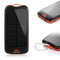 Quality Mobile High Capacity 10000mah Solar Panel Power Bank Charger Battery For Travel for sale