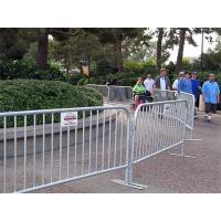 Crowd control barriers stand up in the scenic area for crowd control.