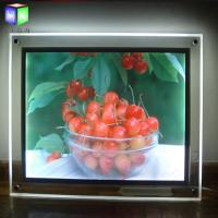 Quality Acrylic indoor Advertising Crystal Led Light Box For Picture Frame Display for sale