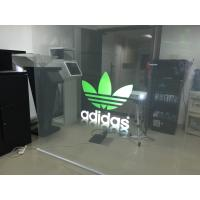 Quality Indoor Clear Holographic Self Adhesive Rear Projection Film For Shop Window for sale