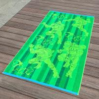 Quality Full Color Printed Jacquard Beach Towel Luxurious Feel With Ninja Turtle Patterns for sale