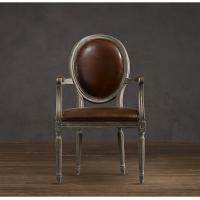 Buy cheap Wooden Round Back leather lounge chairs , faux leather brown dining chairs from Wholesalers