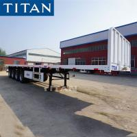 Buy cheap 3 Axles 20 FT 40 FT Container Trailer Flat Bed Semi Trailer from wholesalers