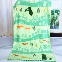 Quality Custom Forest Jacquard Woven Velvet Beach Towels Canada Heavy Weight 550gsm for sale