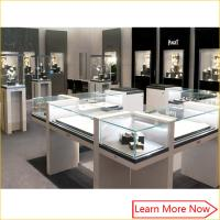 Quality Custom made modern fashion show case jewelry display with led spot lights for sale