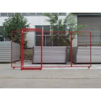 Opening gate of Canada temporary fence for construction material stock.