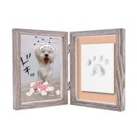 Quality Paw Print Keepsake Frame Ornament , Non toxic Soft Light Pet Picture Frames for sale
