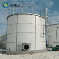 Quality Smooth Bolted Steel Dry Bulk Storage Silos With Aluminum Deck Roof for sale