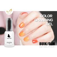 Quality Flavorless 72 Colors Mood Changing Gel Nail Polish Breathable 15ml / Bottle for sale